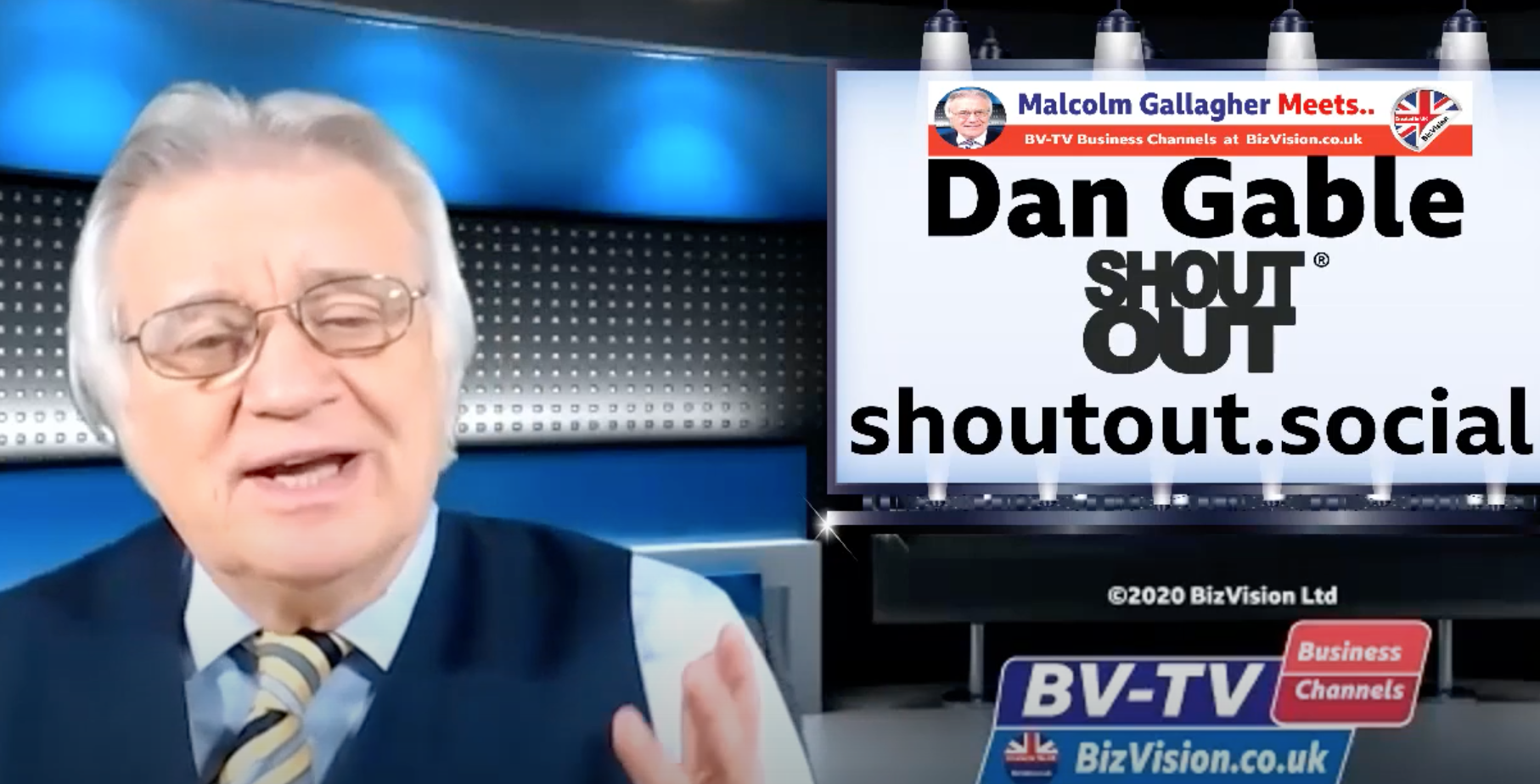 ShoutOut Founder Dan Gable- Interview with BB-TV Sales & Marketing Show host Malcolm Gallagher