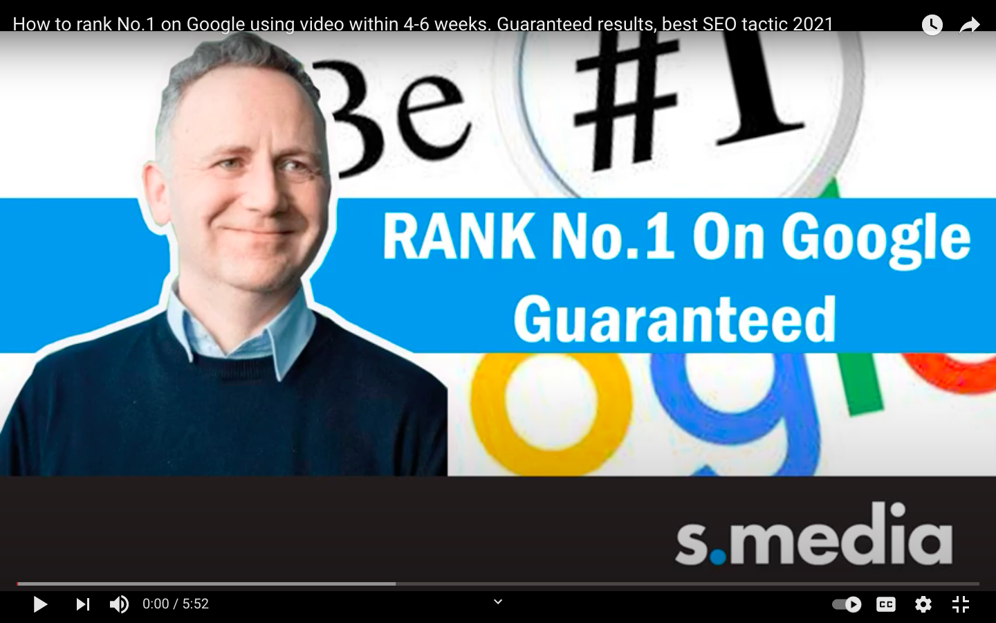 How to rank no.1 on Google using video!