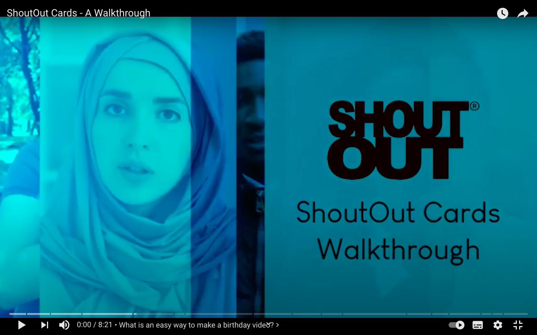 ShoutOut Cards – A Walkthrough